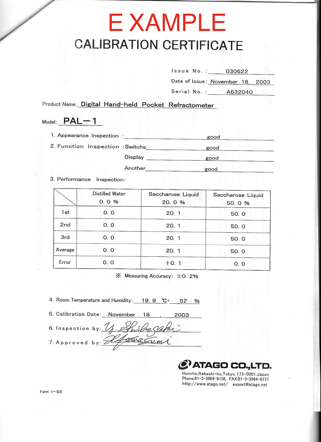 centrifuge calibration certificate sample gallery